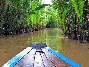Mekong Vietnam - Bootje varen