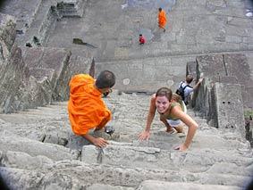 Tempel beklimmen Angkor - Vietnam-reizen