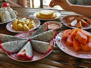 Tropisch ontbijt Vietnam