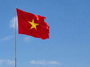 Vlag Vietnam - Ambassade