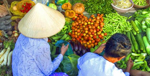 Vietnam reizen - markt