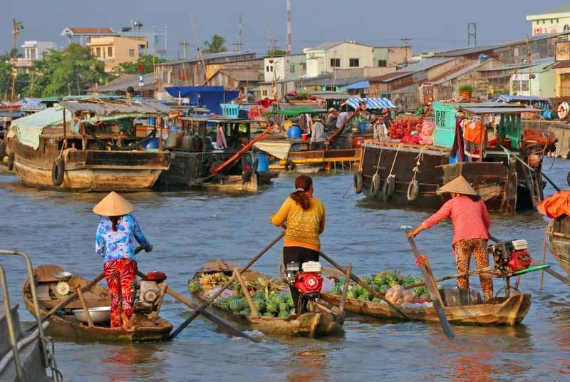 Drijvende markt - Vietnam reizen