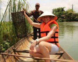 Vissen met een local in Hué Vietnam