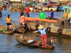 Vietnam Mekong - Drijvende markt