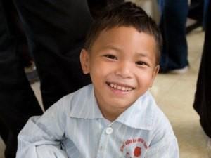 Hulpproject Vietnam - blij jongetje