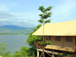 Vietnam weetjes - Glamping aan het meer