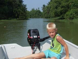 Tortuguero National Park Costa Rica Kids - boottocht