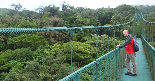 Canopy walk rondreis Costa Rica