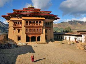 Bhutan Kraanvogelvallei - dzong