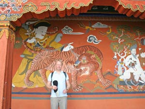 bhutan muurschildering