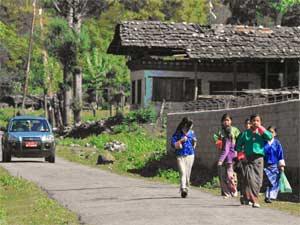 bhutan onderweg