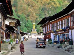 Bhutan India reis trashigang stad