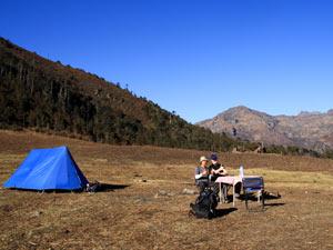 bhutan trekking tent