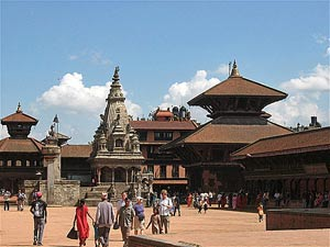 bhutan nepal bhaktapur plein