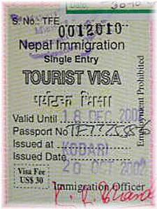 Nepal en India visumvoorwaarden