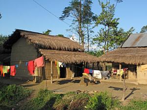 bhutan nepal tharu chitwan huis