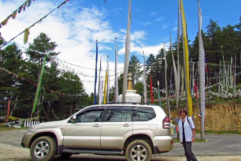 Bhutan vakantie - auto