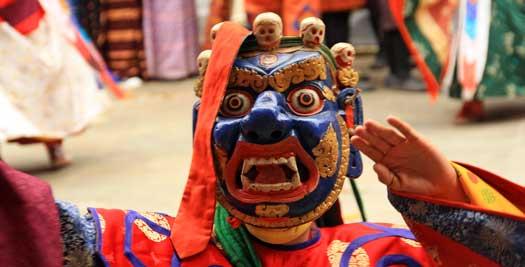 Bhutan reizen - festival
