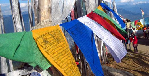 Bhutan vakantie - gebedsvlag