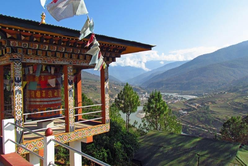 Uitzicht tijdens je vakantie Bhutan