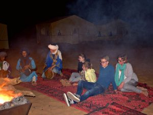 marokko woestijn kampvuur