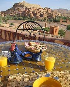 ontbijt bij Ait Benhaddou