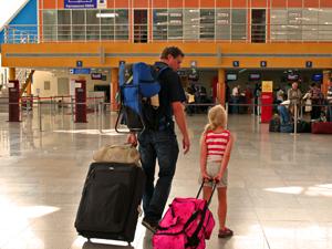Marokko met kids luchthaven