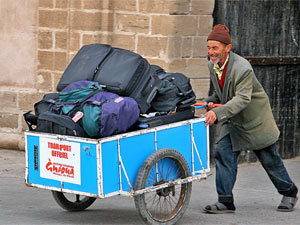 Essaouira medina koffers