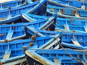 Marokko familiereis - Essaouira blauwe bootjes