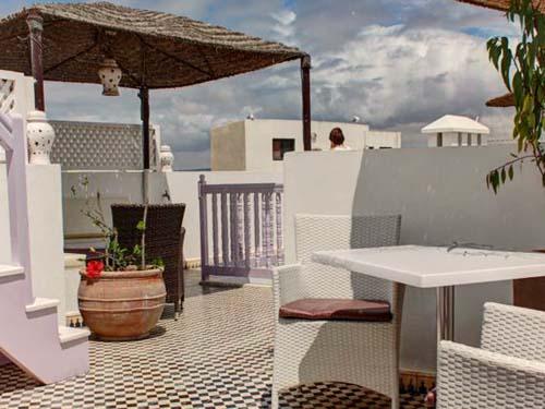 kamelentocht Marokko - Essaouira riad terras