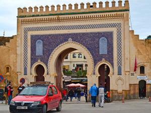 Fes Marokko - blauwe poort