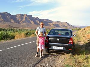 Marokko huurauto onderweg