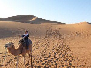 jongetje-op-kameel-marokko-reis-kids