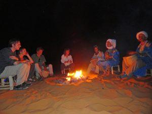 Erg Chebbi woestijn kampvuur