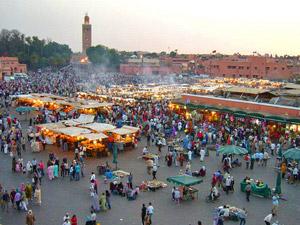 Marrakech Djemnaa el Fna plein