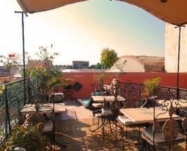 Marokko familiereis - riad Marrakech dakterras