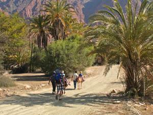 Marokko wandelen vallei