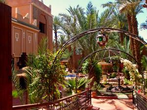 Upgrade Zagora Marokko - riad tuin