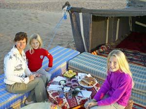 Marokko overnachten in tent