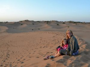 woestijn Marokko Kids - zandduinen