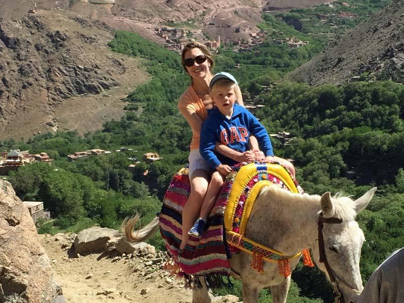 reis Marrakech met kinderen - ezelrit