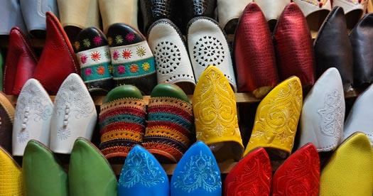 Rondreizen Marokko - slippers