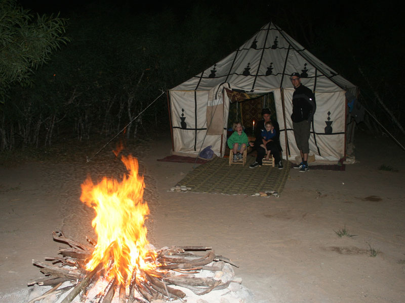 kamelentocht Marokko Kids - tent