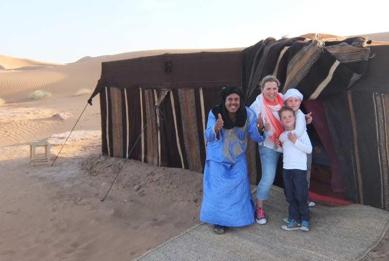 Erg Chebbi woestijn Marokko - overnachting kamelentocht