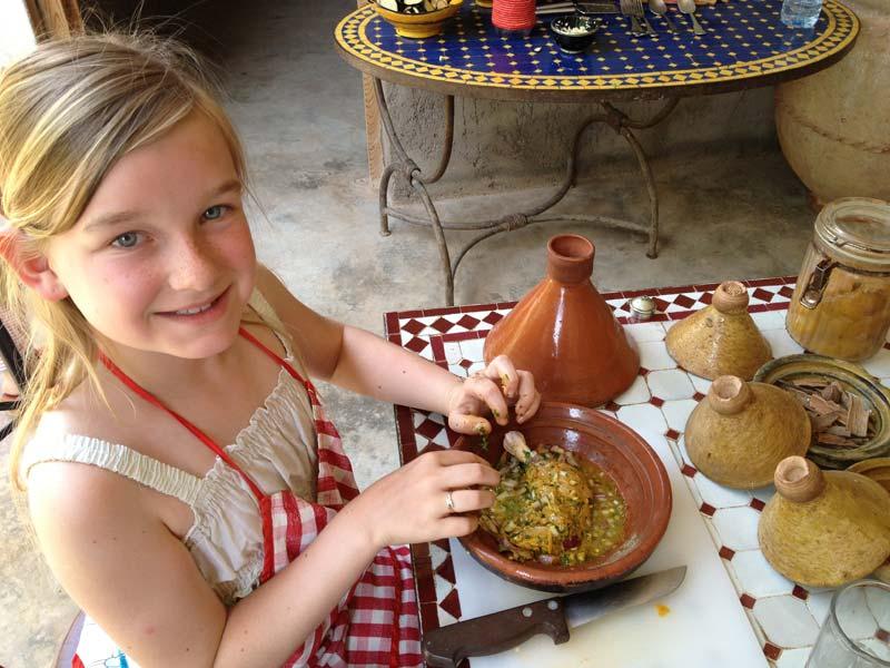 Kookles Marrakech met kinderen