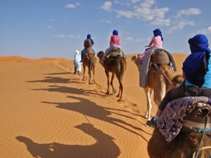 Erg Chebbi woestijn Marokko Kids - kamelentocht