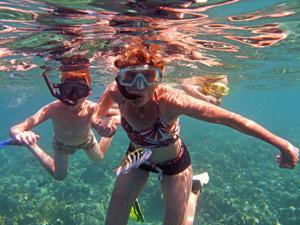 bali kids snorkelen