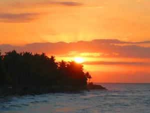 Bali klimaat - zonsondergang