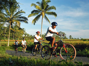 Familiereis Bali ubud fietsen