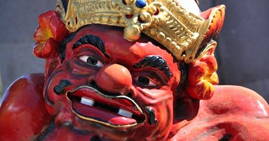Tempel beeld - Bali reizen